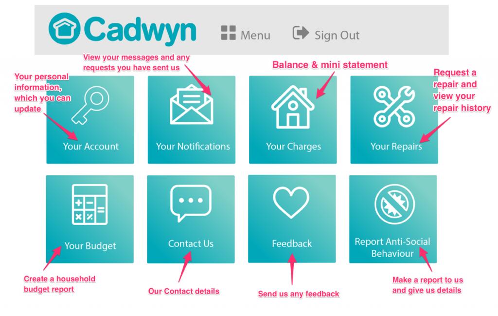 cadwyn app 2 homescreen