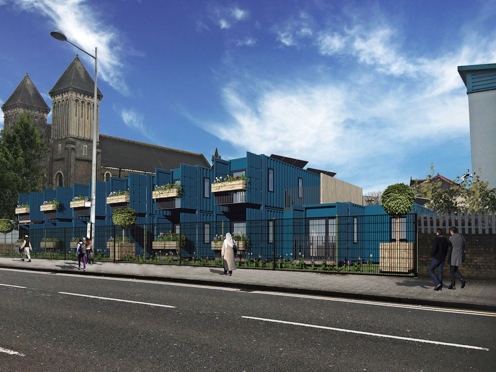 Blue Containers Bute St CGI